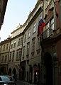 Měšťanský dům U Železných dveří, U dvou jelenů o jedné hlavě (Staré Město), Praha 1, Jilská, Michalská 18, Staré Město.JPG