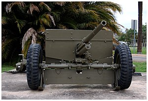 37 mm Gun M3 - M3 on display at Fort Sam Houston, Texas.