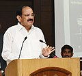 "M. Venkaiah Naidu addressing at an event to release the Hindi, Gujarati, Telugu and Kannada editions of the book titled ""The Emergency - Indian Democracy's Darkest Hour"", authored by the Chairman, Prasar Bharati.JPG"