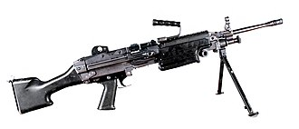 M249 light machine gun - A standard M249 light machine gun