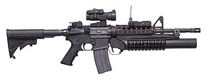 M4 Carbine with M203 Grenade Launcher (7414626424).jpg