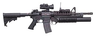 M203 grenade launcher - M4A1 with an M203A2