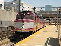 MBTA F40PH 1056 enters the Ruggles station as ...