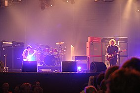 My Bloody Valentine in July 2008. From left to right: Debbie Googe, Colm Ó Cíosóig and Kevin Shields.