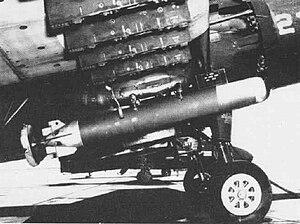 Mark 43 torpedo - Mark 43 torpedo mounted on an AD Skyraider