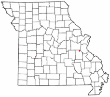 Location of Richwoods, Missouri