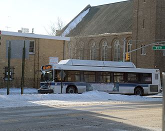 B63 (New York City bus) - A B63 bus in snow