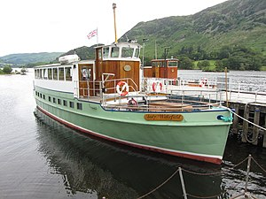 MV Lady Wakefield - Image: MV Lady Wakefield at Glenridding Pier on Ullswater (geograph 4593757)