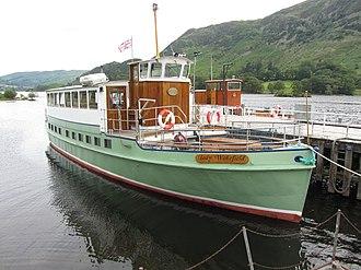 MV Lady Wakefield - Image: MV Lady Wakefield at Glenridding Pier on Ullswater (geograph 4593757)