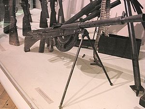 Chauchat - Chauchat LMG in the museum of the Polish Army in Warsaw