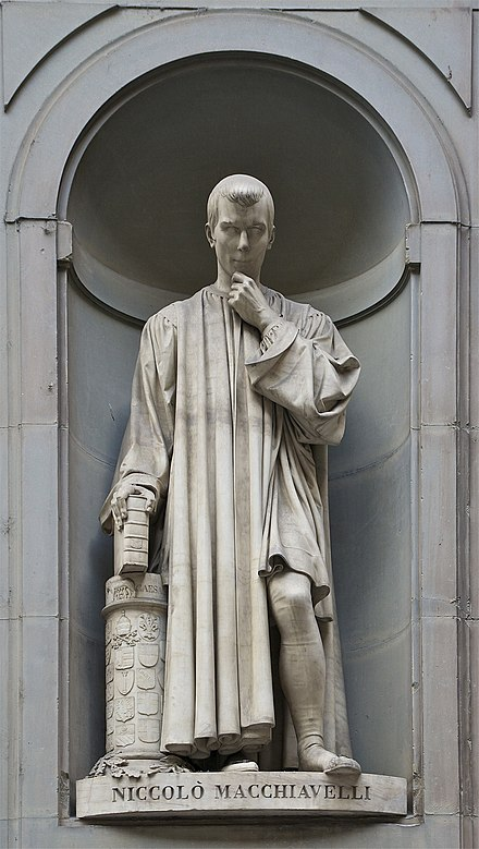 Statue at the Uffizi Machiavel Offices Florence.jpg