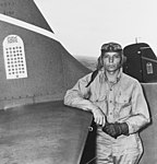 Machinist Donald E. Runyon of VF-6 aboard USS Enterprise (CV-6) on 10 September 1942 (80-G-11103).jpg