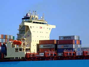 Maersk Sofia p10 approaching Port of Rotterdam, Holland 04-Aug-2007.jpg