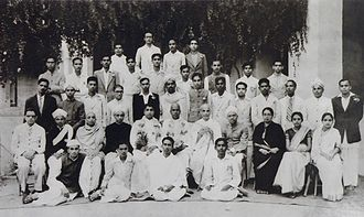 S. Srikanta Sastri - Maharaja's College Group Photo showing Kuvempu, Ta Ra Su, A. R. Krishna Sastri, Ralapalli Anatha Krishna Sharma among others