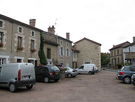The main square in Maisonnais-sur-Tardoire