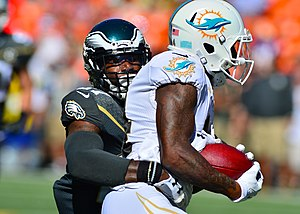 Malcolm Jenkins - Jenkins tackling Jarvis Landry in the 2016 Pro Bowl