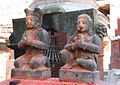 Malla king and queen doing Namaste (the ritual greeting) in front of the Chandeshwari Temple..jpg