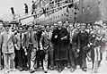 Maltese immigrants land in Sydney from the SS Partizanka, 1948.jpg