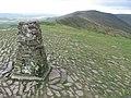 Mam Tor trig point S4230 towards Rushup Edge - geograph.org.uk - 1036728.jpg