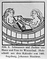 Man and woman feasting and tippling in a bath. Wellcome M0007352.jpg