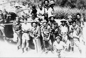 Manara, Israel - Bulgarian Company of Yiftach Brigade with a convoy to Manara. 1948