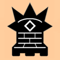 Mann black on light (an icon of the chess piece).png