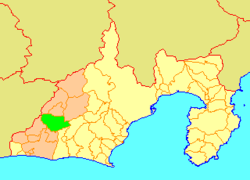 Location of Tenryū in Shizuoka Prefecture