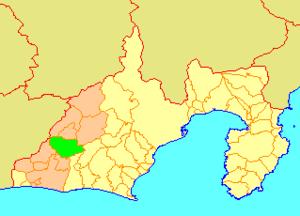 Tenryū, Shizuoka - Image: Map.Tenryu.Shizuok