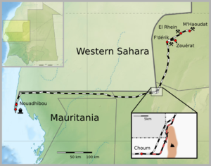 Map of Mauritania Railway