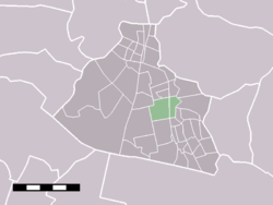 The statistical district of Koog aan de Zaan in the municipality of Zaanstad.