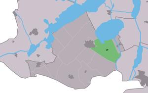Wijckel - Image: Map NL Gaasterlân Sleat Wikel