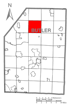 Map of Cherry Township, Butler County, Pennsylvania Highlighted.png