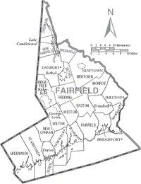 Map of Fairfield County Connecticut With Municipal Labels.PNG