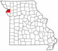 Map of Missouri highlighting Buchanan County.png