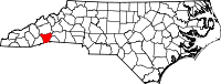 Map of North Carolina highlighting Henderson County