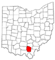 Map of Ohio highlighting Jackson County.png
