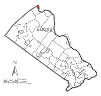 Map of Riegelsville, Bucks County, Pennsylvania Highlighted.png