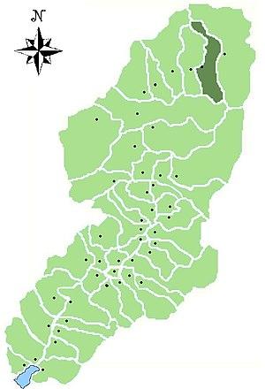 Temù - Location of Temù in Val Camonica