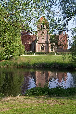 Mapledurham Church and House, seen from the Watermill