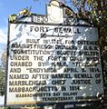 Marblehead Massachusetts sign outside Fort Sewall about fort history.JPG