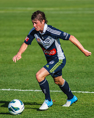 Marco Rojas - Rojas playing for the Victory in 2012