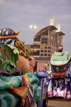 Mobile is the birthplace of Mardi Gras in the U.S. Mardi Gras Mobile Order of Inca.jpg