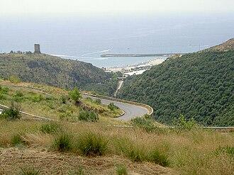 Marina di Camerota - View from the road to San Giovanni a Piro and Policastro Bussentino