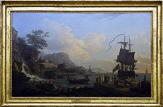 Marine and landscape on the shores of the Mediterranean