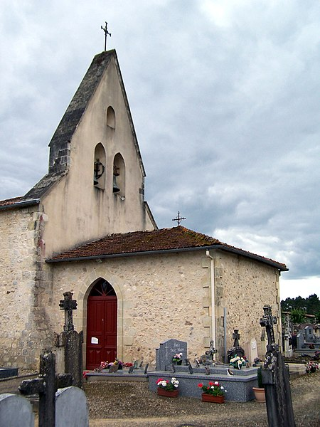 Church Saint-Pierre of Marions (Gironde, France)