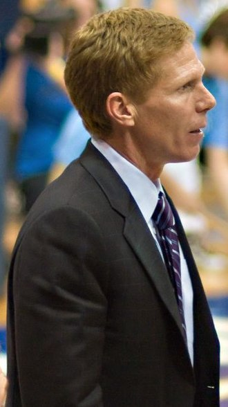 Gonzaga Bulldogs men's basketball - Mark Few during a game against San Diego on February 18, 2008