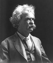 Mark Twain im Alter von 72 Jahren