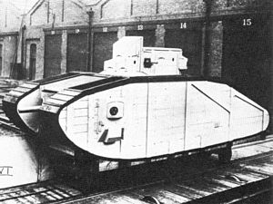 Mark VI (tank) - Wooden mockup of the proposed Mark VI, 1917