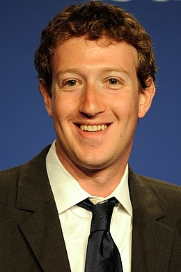 Mark Zuckerberg na 37. summitu G8 v roce 2011