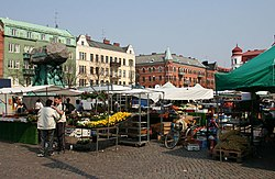 Market at Möllevångstorget in Malmö Sweden.jpg